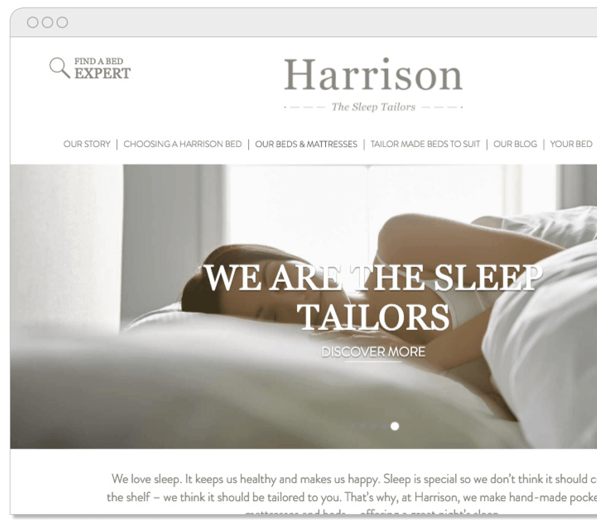 Harrison Beds Website
